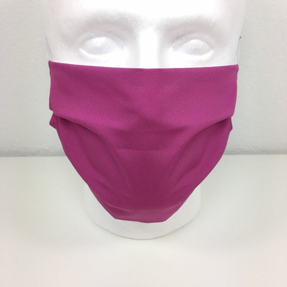 Solid Verve Violet Face Mask - Adult / Tween / Teen Adjustable Fabric Face Mask with Pocket for Filter