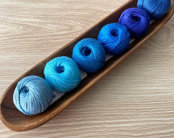 6 Cotton Yarn Set - Blue - Yarn and Colors Must Have Minis Cotton Yarn - Stocking Stuffer