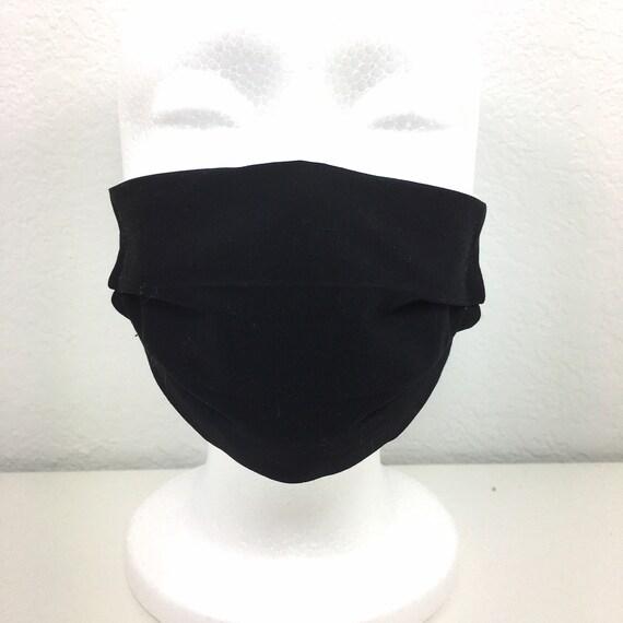 Solid Black Child Face Mask