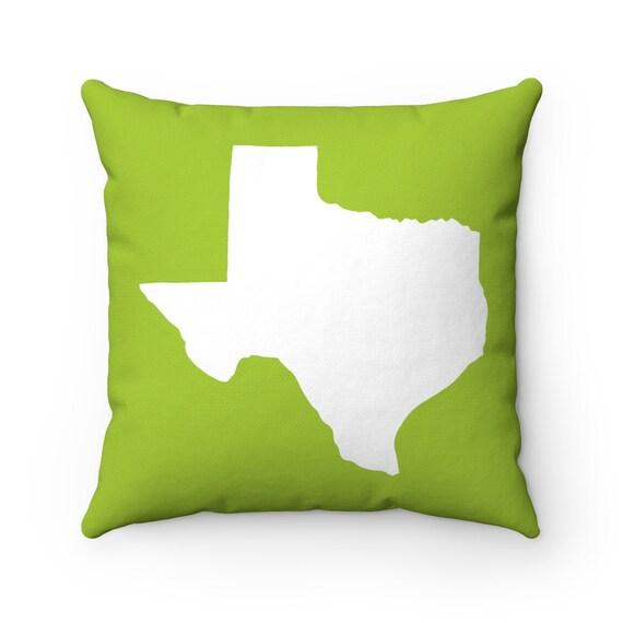 Lime Texas Throw Pillow . Lime Pillow . Texas Cushion . Lime Green Pillow . Texas State Pillow . Lime Cushion Texas Gift 14 16 18 20 26 inch