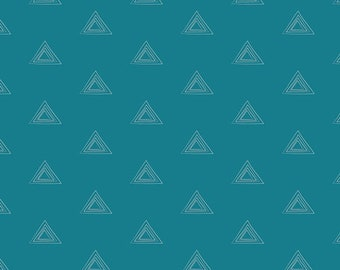 Pagoda Gem - Teal Triangle Fabric - Art Gallery Fabrics - Prism Elements - PRE-809 - Fabric by the yard