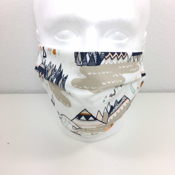 Extra Large Face Mask - XL Adult Adjustable Fabric Face Mask with Pocket for Filter