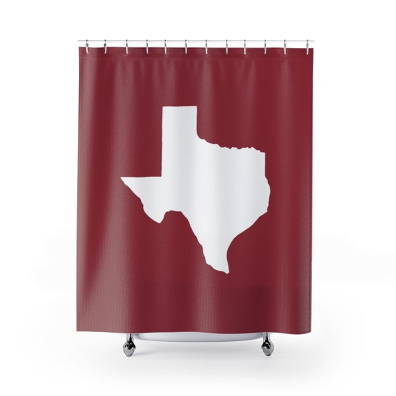 Jester Red Texas Shower Curtain . Jester Red Texas State Shower Curtain