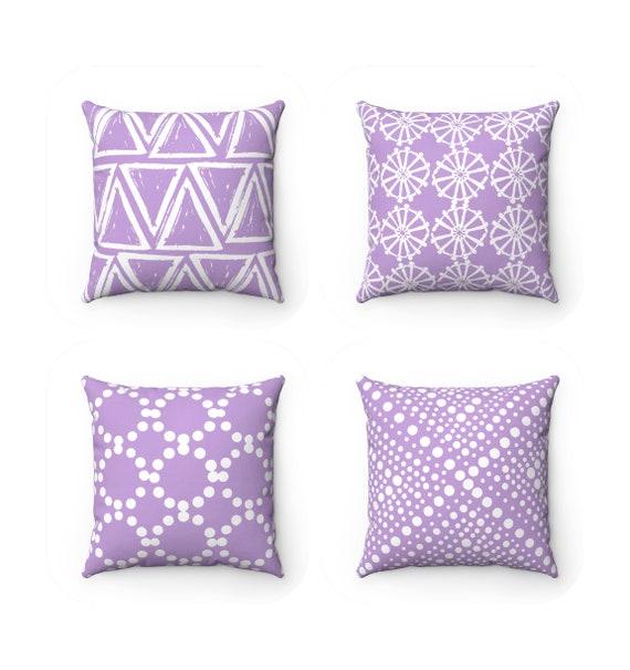 OUTDOOR Throw Pillow . Lavender Outdoor Pillow . Lavender pillow . Lavender Patio Cushion . Throw Pillow 16 18 20 inch . Lilac Lumbar Pillow