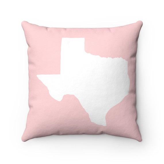 Texas Throw Pillow . Modern Blush Pillow . Texas Cushion . Pink Pillow . Texas Pillow . Texas State . Pillow . Texas Gift 14 16 18 20 inch