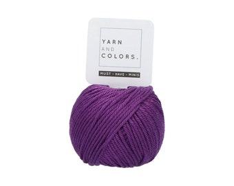 054 Grape - Yarn and Colors Must Have Mini - Purple Cotton Yarn - Fine (2)