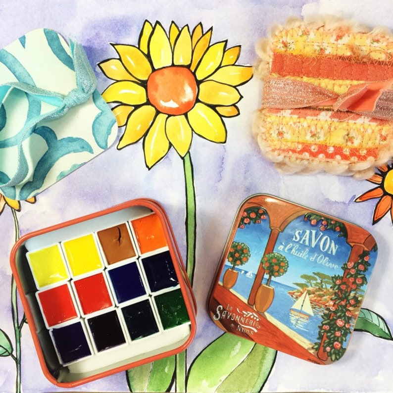 French Riviera Watercolor Paint Gift Set . Sennelier image 0