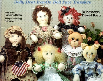 Dolly Dear Dressed Up Dolls Clothes Rabbit Teddy Bear Black and White Cow Tabby Cat Clowns Santa Claus Uncut Sewing Pattern Craft Book 8664