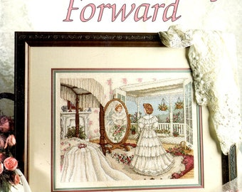 From This Day Forward Paula Vaughan Wedding Southern Bride Gown Dressing Room Flowers Counted Cross Stitch Embroidery Pattern Craft Leaflet