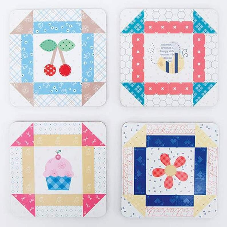 Lori Holt Bee Happy Coasters