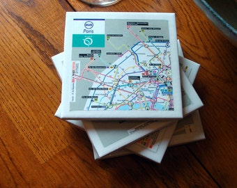 Public Transit Coasters - Paris (Set of 4)