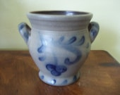 Salt Glazed Rowe Pottery Works Crock Berry Design Dated 1992
