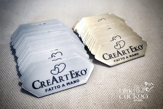 look like metal 30 plastic tags laser cut and engraved