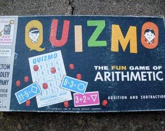 Vintage Game Quizmo Vintage Math Game Arithmetic Bingo Game