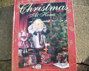 Vintage Book Better Homes and Gardens Christmas at Home