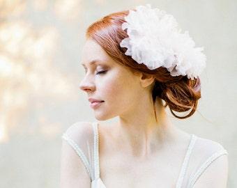 Haare kämmen, Haarschmuck, floralen Kopfschmuck, Hochzeitshaarkamm, Blumen Haare kämmen, erröten rosa, Elfenbein-Kopfschmuck - Art-326