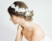 Bridal Hair Vine, Wedding Headband, Bridal Headband, Crystal Beaded Hair Vine, Pearl Headband, Lace Bridal Headpiece, Hair Vine - Style 704
