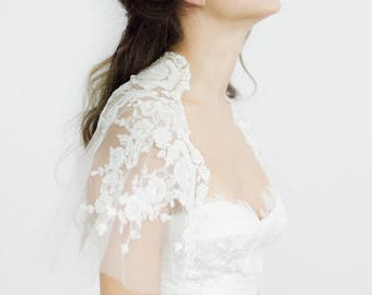 Bridal Cover up, Wedding Attire, Cover up, Beaded cape, Bridal cape, Bridal shrug, Wedding Cover up - Style 718