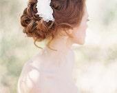 Floral Bridal Hair pins, Pearl Bridal Hair Pins, Petal Beaded Wedding Hair Pins, Handmade Ivory Hair pins - Style 203