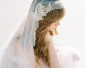 Cathedral Veil, Wedding Veil, Lace Veil, Mantilla Veil, Bridal Veil, Long Veil, Ivory Veil, Handmade Veil, Chantilly Lace Veil - Style 405