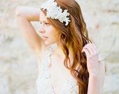 Bridal Headband, Wedding Headpiece, Crystal Headpiece, Lace Headpiece, Bridal Headpiece, Flapper Headpiece, Rhinestone Headband - Style 320