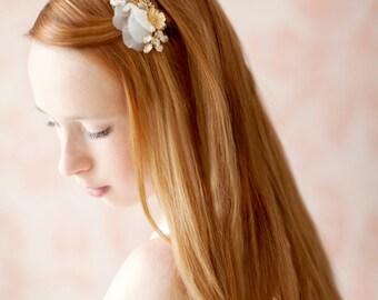 Braut Haarkamm, Hochzeit Kopfschmuck, Blumen Haare kämmen, Braut Kopfschmuck, Gold-Haar-Kamm, floralen Kopfschmuck, Kristall Haarkamm - Stil 223