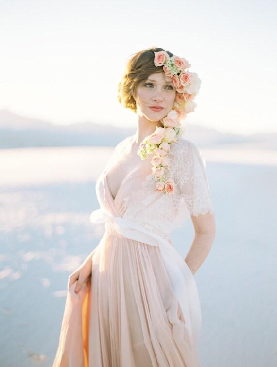 Lace Jacket Style 418 Blush Lace Cover up Bridal Jacket Ivory Wedding Robe Beaded Bridal Cover up Wedding Cover up Wedding Shrug