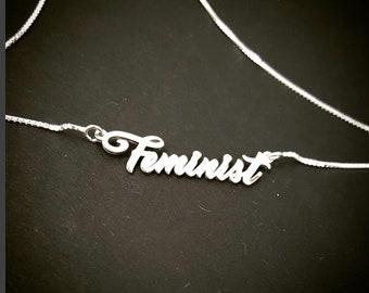 Feminist Necklace,  Female Symbol Necklace,  Girl Power. Feminism,  Gift for Women, Name Necklace, Feminism