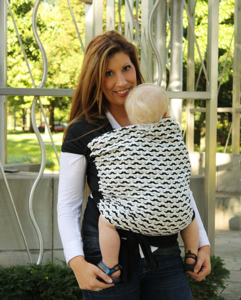 f4c33f2d640 Mustaches Baby Carrier Hybrid Wrap for Front   Back Carries