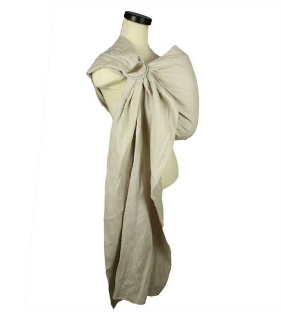 74dccd53f3a Pleated Shoulder Linen Ring Sling Baby Carrier Sand Custom