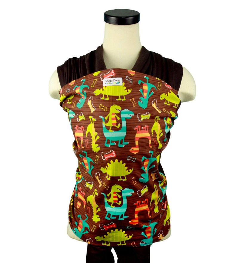 f9a64bd944d Baby Carrier Hybrid Stretch Wrap Dino Dudes Instructional