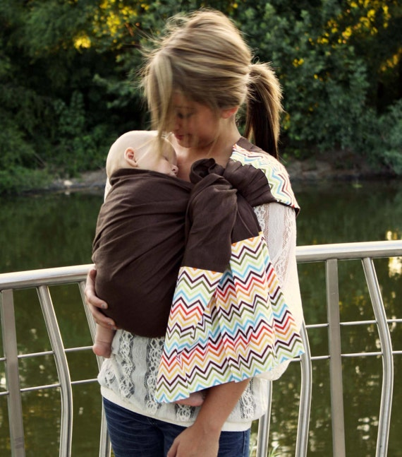 97ae2ff6772 Linen Ring Sling Baby Carrier Baby Sling Rainbow Chevron