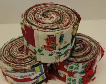christmas jelly roll christmas quilt fabric strips sewfunquilts time saver kits