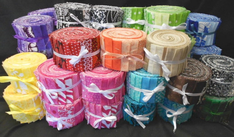 SEW FUN QUILTS Time Saver Quilt Kit Quilt Strips Jelly Roll Lime Green Jelly Roll Fabric Strips