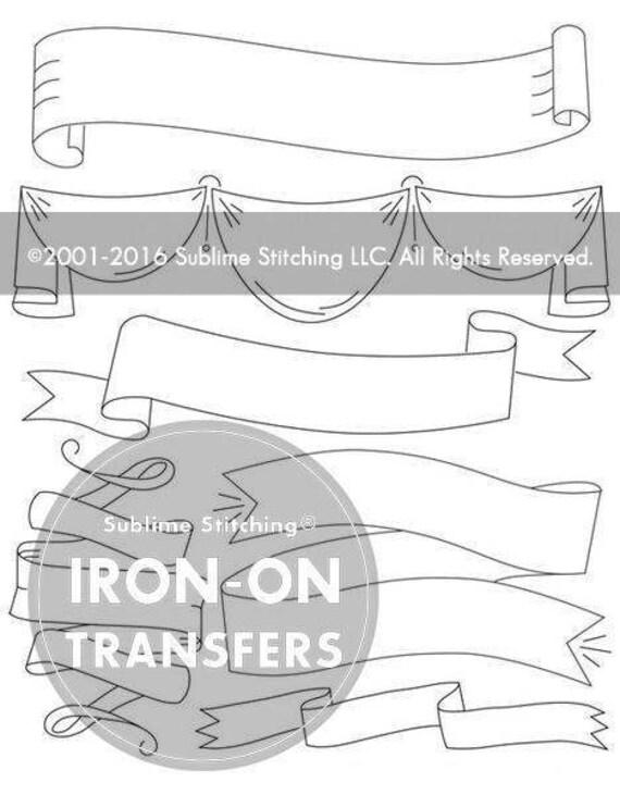 Patrones de transferencia de cintas y BANNERS hierro en | Etsy
