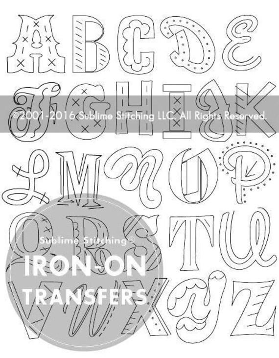 ÉPICA alfabeto hierro en patrones de transferencia de la mano   Etsy