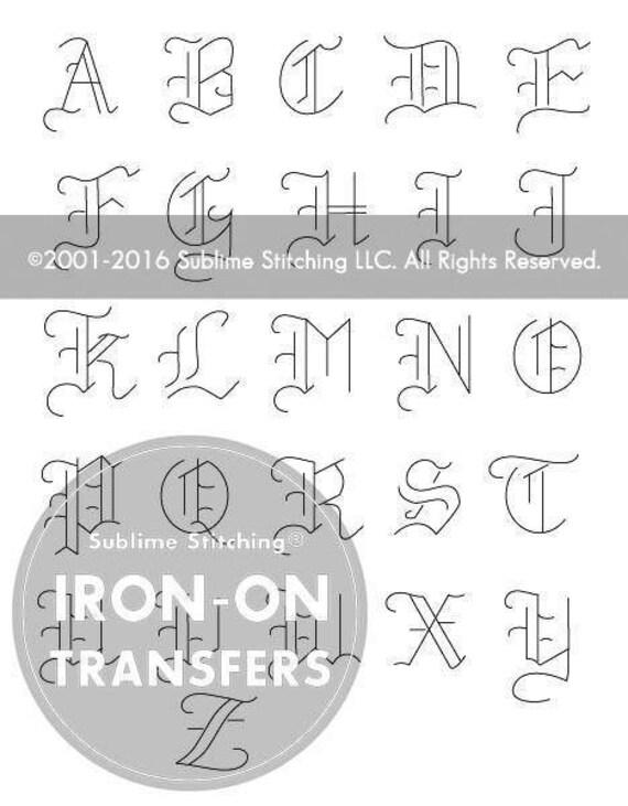 ANTIGUO alfabeto hierro en patrones de transferencia de la | Etsy