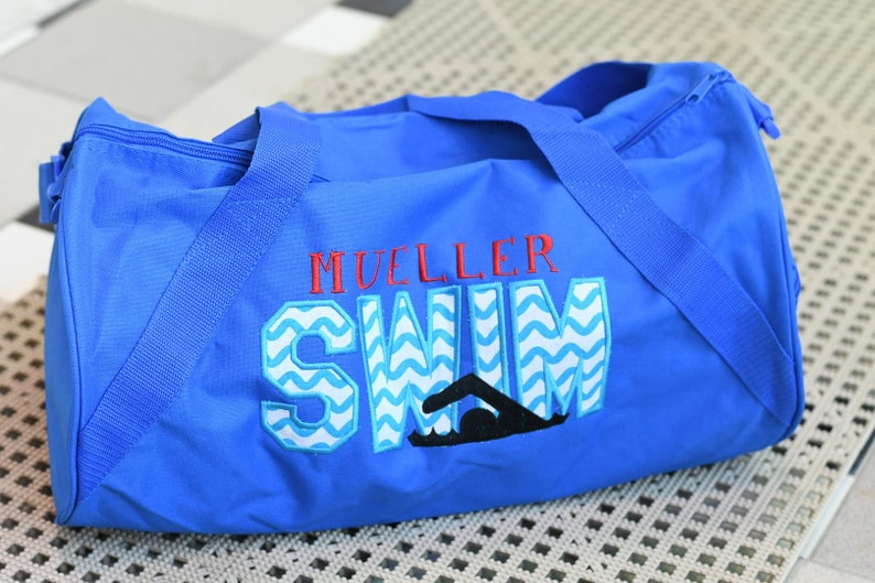 1e3427699a Swim Duffle Bag Personalized Swim Bag Swim Class Swim Team
