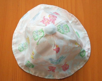 65599168489 Baby Summer Sun Hat Animals Size Small