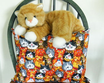 Cat Pillow Cover  Cat Lover Pillow Cover  Animal Pillow Cover Free Shipping