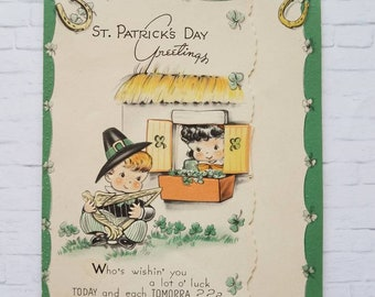 St. Patrick's Day Card from the 1940s, used