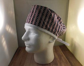 Surgical Scrub Cap Hat Ready to Ship Wide Crown Skull Cap Doctor Nurse RN Dula Veternarian Tech Hat Womens Scrub Striped Star Print