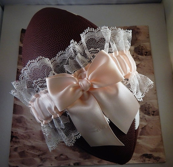 Football Toss Garter Champagne Satin Wedding Accessories Football Band (Football not included)