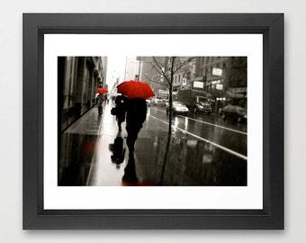 New York City Rainy Day Umbrella Photograph