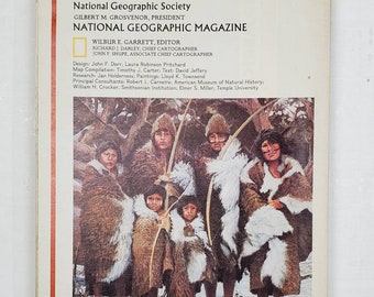 National Geographic Map Collection-Indians of South America-gluebook, journal, Art journal, collage