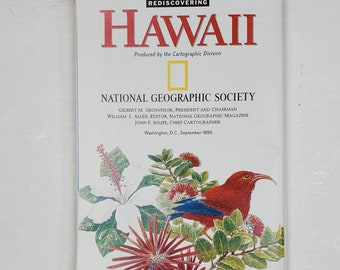 National Geographic Map Collection- Hawaii-gluebook, journal, Art journal, collage