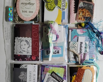Pocket Letter - Art of Pie - collage,paper collection, happy mail, Art Trading Cards, junk journal