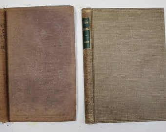 Vintage Book Covers set of two-junk journal covers, smashbook cover, antique book cover