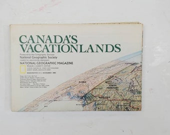 National Geographic Map Collection- Canada-gluebook, journal, Art journal, collage