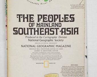 National Geographic Map Collection- Southeast Asia-gluebook, journal, Art journal, collage